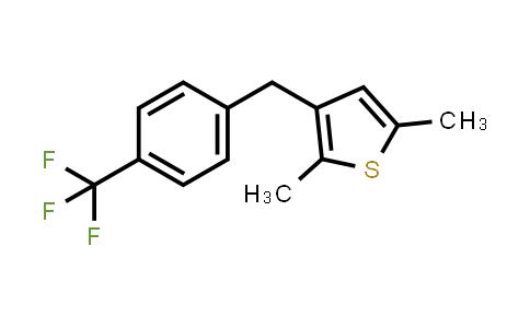 1006037-09-7 | 2,5-Dimethyl-3-(4-(trifluoromethyl)benzyl)thiophene