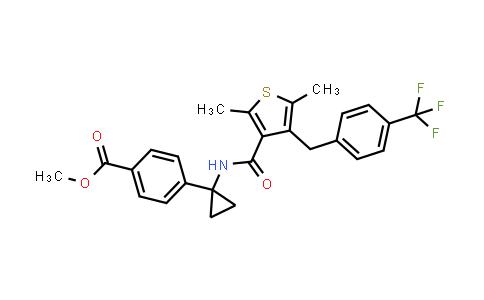 1006037-11-1 | Benzoic acid, 4-[1-[[[2,5-dimethyl-4-[[4-(trifluoromethyl)phenyl]methyl]-3-thienyl]carbonyl]amino]cyclopropyl]-, methyl ester