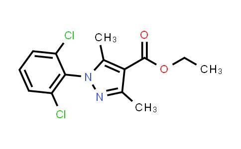 1006441-21-9 | 1H-Pyrazole-4-carboxylic acid, 1-(2,6-dichlorophenyl)-3,5-dimethyl-, ethyl ester