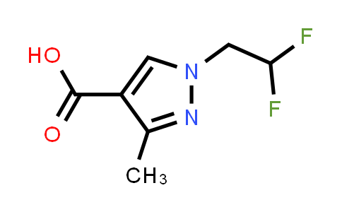 1006486-66-3 | 1-(2,2-Difluoroethyl)-3-methyl-1H-pyrazole-4-carboxylic acid