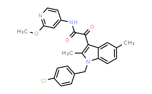 1006604-91-6 | 1H-Indole-3-acetamide, 1-[(4-chlorophenyl)methyl]-N-(2-methoxy-4-pyridinyl)-2,5-dimethyl-α-oxo-