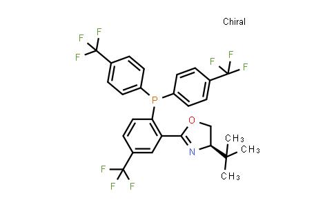 1006708-91-3 | (4R)-2-[2-[Bis[4-(trifluoromethyl)phenyl]phosphino]-5-(trifluoromethyl)phenyl]-4-tert-butyl-4,5-dihydrooxazole