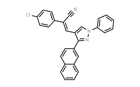 1007013-22-0   Benzeneacetonitrile, 4-chloro-α-[[3-(2-naphthalenyl)-1-phenyl-1H-pyrazol-4-yl]methylene]-