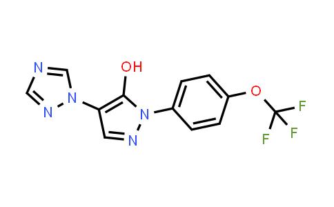 1007029-49-3 | 1H-Pyrazol-5-ol, 4-(1H-1,2,4-triazol-1-yl)-1-[4-(trifluoromethoxy)phenyl]-