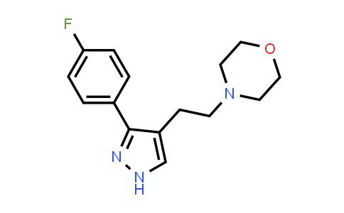 1007029-88-0 | Morpholine, 4-[2-[3-(4-fluorophenyl)-1H-pyrazol-4-yl]ethyl]-