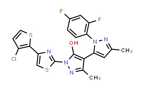 1007030-99-0 | 2-[4-(3-Chlorothiophen-2-yl)-1,3-thiazol-2-yl]-4-[2-(2,4-difluorophenyl)-5-methylpyrazol-3-yl]-5-methylpyrazol-3-ol