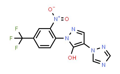 1007032-54-3 | 1H-Pyrazol-5-ol, 1-[2-nitro-4-(trifluoromethyl)phenyl]-4-(1H-1,2,4-triazol-1-yl)-
