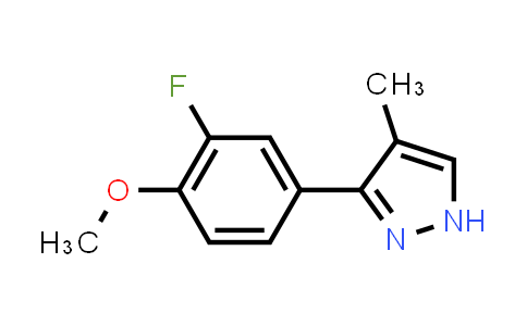 1007033-91-1 | 1H-Pyrazole, 3-(3-fluoro-4-methoxyphenyl)-4-methyl-