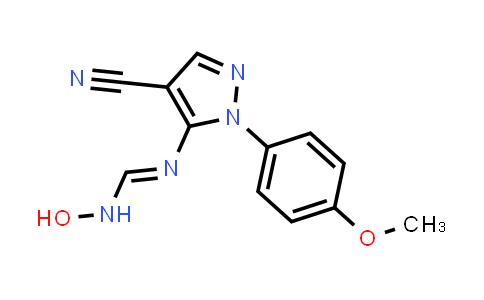 1007054-53-6 | Methanimidamide, N'-[4-cyano-1-(4-methoxyphenyl)-1H-pyrazol-5-yl]-N-hydroxy-