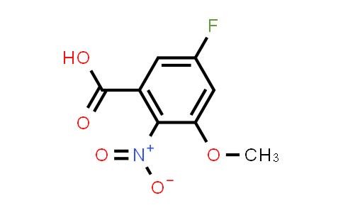 1007113-04-3   5-Fluoro-3-methoxy-2-nitrobenzoic acid