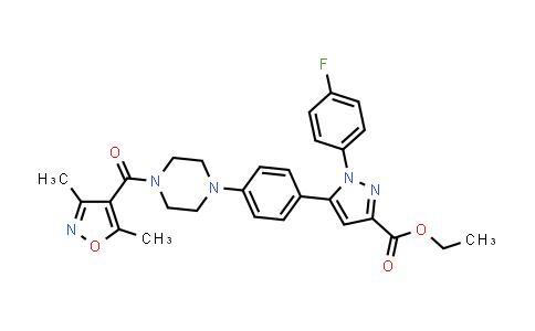 1007477-32-8 | ethyl 5-(4-(4-(3,5-dimethylisoxazole-4-carbonyl)piperazin-1-yl)phenyl)-1-(4-fluorophenyl)-1H-pyrazole-3-carboxylate