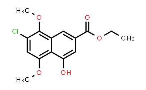 1007853-53-3 | 2-Naphthalenecarboxylic acid, 7-chloro-4-hydroxy-5,8-dimethoxy-, ethyl ester