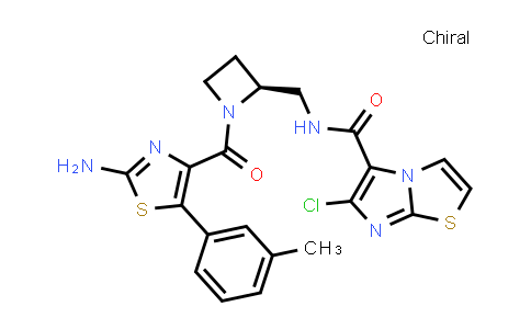 1007874-35-2 | Imidazo[2,1-b]thiazole-5-carboxamide, N-[[(2S)-1-[[2-amino-5-(3-methylphenyl)-4-thiazolyl]carbonyl]-2-azetidinyl]methyl]-6-chloro-