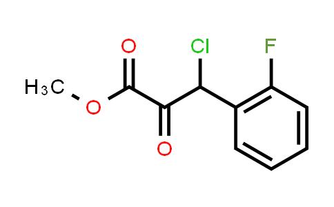 1007875-06-0 | Benzenepropanoic acid, β-chloro-2-fluoro-α-oxo-, methyl ester
