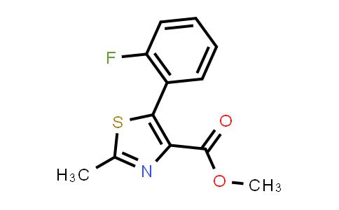 1007875-07-1 | 4-Thiazolecarboxylic acid, 5-(2-fluorophenyl)-2-methyl-, methyl ester