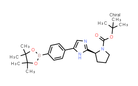 1007882-12-3 | (S)-tert-Butyl 2-(5-(4-(4,4,5,5-tetramethyl-1,3,2-dioxaborolan-2-yl)phenyl)-1H-imidazol-2-yl)pyrrolidine-1-carboxylate