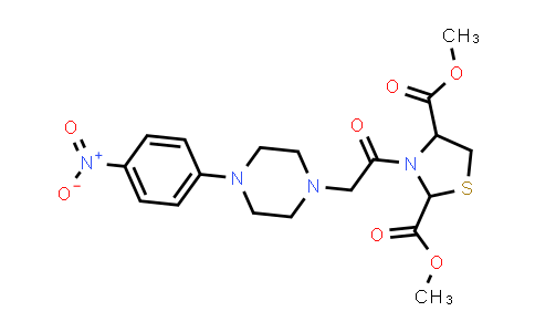 1007920-63-9 | 2,4-Thiazolidinedicarboxylic acid, 3-[2-[4-(4-nitrophenyl)-1-piperazinyl]acetyl]-, 2,4-dimethyl ester
