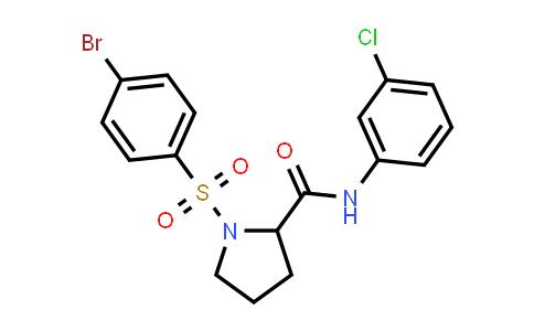 1007931-99-8 | 2-Pyrrolidinecarboxamide, 1-[(4-bromophenyl)sulfonyl]-N-(3-chlorophenyl)-