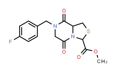 1007933-01-8 | 3H-Thiazolo[3,4-a]pyrazine-3-carboxylic acid, 7-[(4-fluorophenyl)methyl]hexahydro-5,8-dioxo-, methyl ester