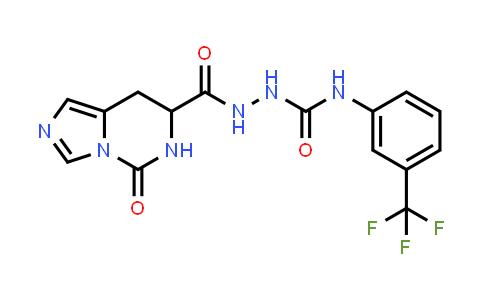 1007933-08-5 | Imidazo[1,5-c]pyrimidine-7-carboxylic acid, 5,6,7,8-tetrahydro-5-oxo-, 2-[[[3-(trifluoromethyl)phenyl]amino]carbonyl]hydrazide