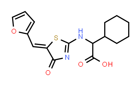 1007980-93-9   Cyclohexaneacetic acid, α-[[5-(2-furanylmethylene)-4,5-dihydro-4-oxo-2-thiazolyl]amino]-