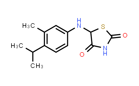 1008000-53-0 | 2,4-Thiazolidinedione, 5-[[3-methyl-4-(1-methylethyl)phenyl]amino]-