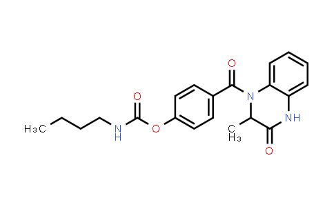 1008018-96-9 | Carbamic acid, N-butyl-, 4-[(3,4-dihydro-2-methyl-3-oxo-1(2H)-quinoxalinyl)carbonyl]phenyl ester