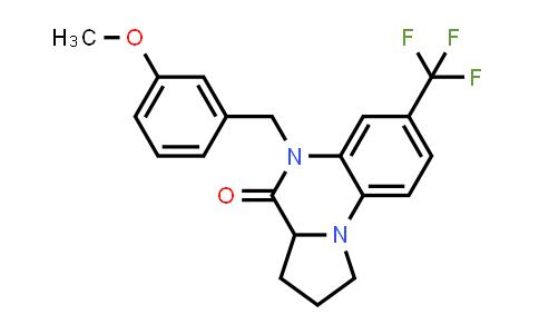 1008035-84-4 | Pyrrolo[1,2-a]quinoxalin-4(5H)-one, 1,2,3,3a-tetrahydro-5-[(3-methoxyphenyl)methyl]-7-(trifluoromethyl)-
