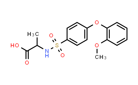 1008052-20-7 | 2-[[4-(2-Methoxyphenoxy)phenyl]sulfonylamino]propanoic acid