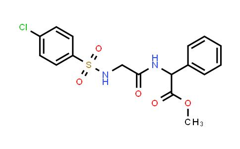 1008068-62-9   Glycine, N-[(4-chlorophenyl)sulfonyl]glycyl-2-phenyl-, methyl ester
