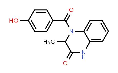 1008077-37-9 | 2(1H)-Quinoxalinone, 3,4-dihydro-4-(4-hydroxybenzoyl)-3-methyl-