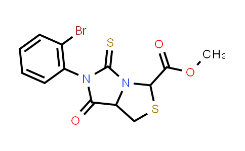 1008077-68-6 | 1H,3H-Imidazo[1,5-c]thiazole-3-carboxylic acid, 6-(2-bromophenyl)tetrahydro-7-oxo-5-thioxo-, methyl ester