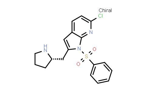 1008108-81-3   1H-Pyrrolo[2,3-b]pyridine, 6-chloro-1-(phenylsulfonyl)-2-[(2S)-2-pyrrolidinylmethyl]-