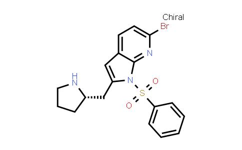 1008108-82-4 | 1H-Pyrrolo[2,3-b]pyridine, 6-bromo-1-(phenylsulfonyl)-2-[(2S)-2-pyrrolidinylmethyl]-