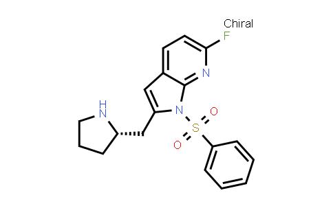 1008108-83-5 | 1H-Pyrrolo[2,3-b]pyridine, 6-fluoro-1-(phenylsulfonyl)-2-[(2S)-2-pyrrolidinylmethyl]-