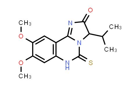 1008206-85-6 | Imidazo[1,2-c]quinazolin-2(3H)-one, 5,6-dihydro-8,9-dimethoxy-3-(1-methylethyl)-5-thioxo-