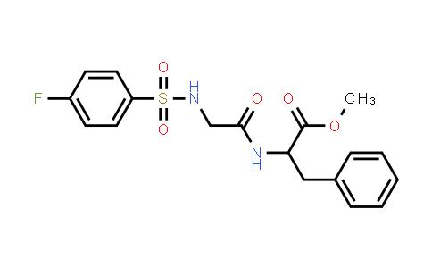 1008465-58-4   Methyl 2-[(2-{[(4-fluorophenyl)sulfonyl]amino}acetyl)amino]-3-phenylpropanoate