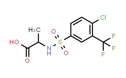 1008594-59-9 | 2-[4-Chloro-3-(trifluoromethyl)benzenesulfonamido]propanoic acid