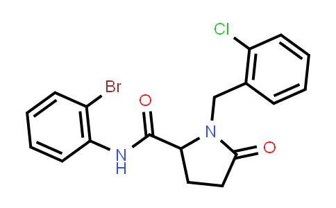 1008658-26-1 | 2-Pyrrolidinecarboxamide, N-(2-bromophenyl)-1-[(2-chlorophenyl)methyl]-5-oxo-