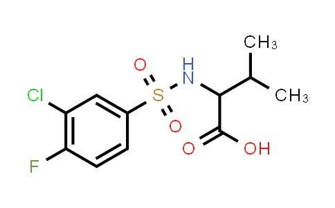 1008660-85-2 | 2-(3-Chloro-4-fluorobenzenesulfonamido)-3-methylbutanoic acid