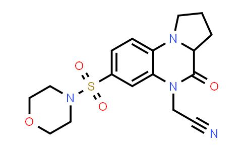 1008661-26-4 | Pyrrolo[1,2-a]quinoxaline-5(1H)-acetonitrile, 2,3,3a,4-tetrahydro-7-(4-morpholinylsulfonyl)-4-oxo-