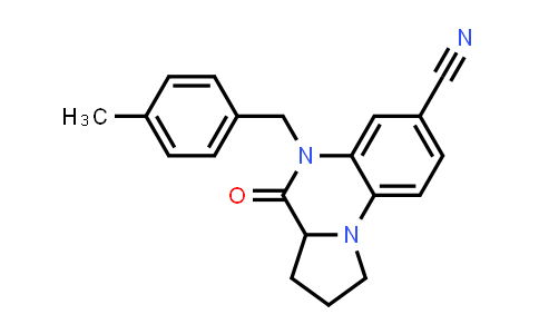 1008710-16-4 | Pyrrolo[1,2-a]quinoxaline-7-carbonitrile, 1,2,3,3a,4,5-hexahydro-5-[(4-methylphenyl)methyl]-4-oxo-