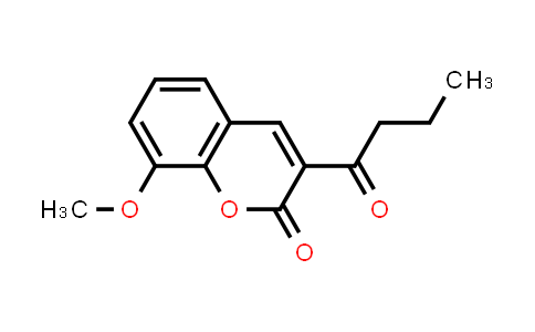 100886-56-4 | 2H-1-Benzopyran-2-one, 8-methoxy-3-(1-oxobutyl)-