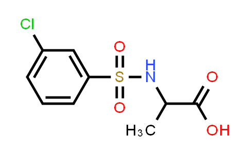 1008997-34-9 | 2-(3-Chlorobenzenesulfonamido)propanoic acid