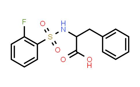 1009227-82-0 | 2-(2-Fluorobenzenesulfonamido)-3-phenylpropanoic acid