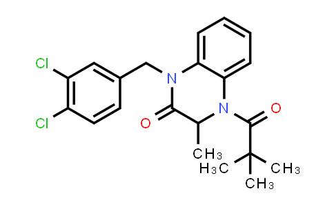 1009248-84-3 | 2(1H)-Quinoxalinone, 1-[(3,4-dichlorophenyl)methyl]-4-(2,2-dimethyl-1-oxopropyl)-3,4-dihydro-3-methyl-