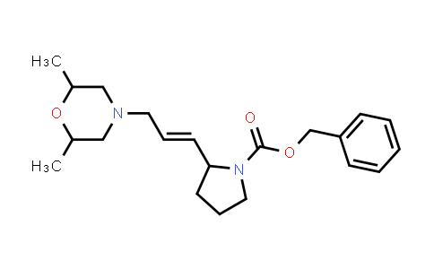 1009328-59-9   1-Pyrrolidinecarboxylic acid, 2-[3-(2,6-dimethyl-4-morpholinyl)-1-propen-1-yl]-, phenylmethyl ester
