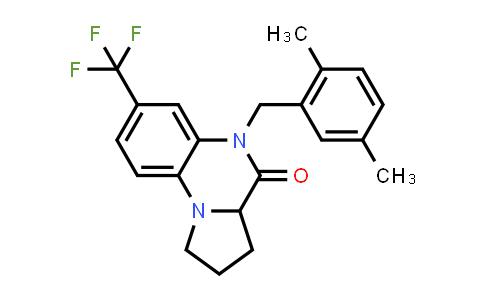 1009409-98-6 | Pyrrolo[1,2-a]quinoxalin-4(5H)-one, 5-[(2,5-dimethylphenyl)methyl]-1,2,3,3a-tetrahydro-7-(trifluoromethyl)-