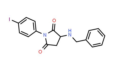 1009417-93-9   2,5-Pyrrolidinedione, 1-(4-iodophenyl)-3-[(phenylmethyl)amino]-
