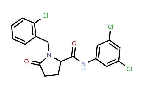 1009499-22-2 | 2-Pyrrolidinecarboxamide, 1-[(2-chlorophenyl)methyl]-N-(3,5-dichlorophenyl)-5-oxo-